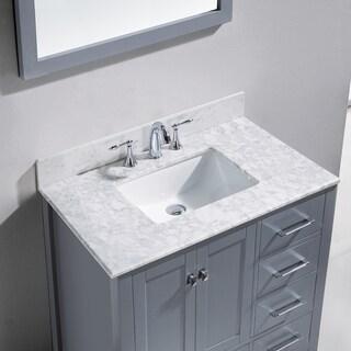 Virtu USA Caroline Avenue 36-inch Single Bathroom Vanity Set with Faucet Options (4 options available)