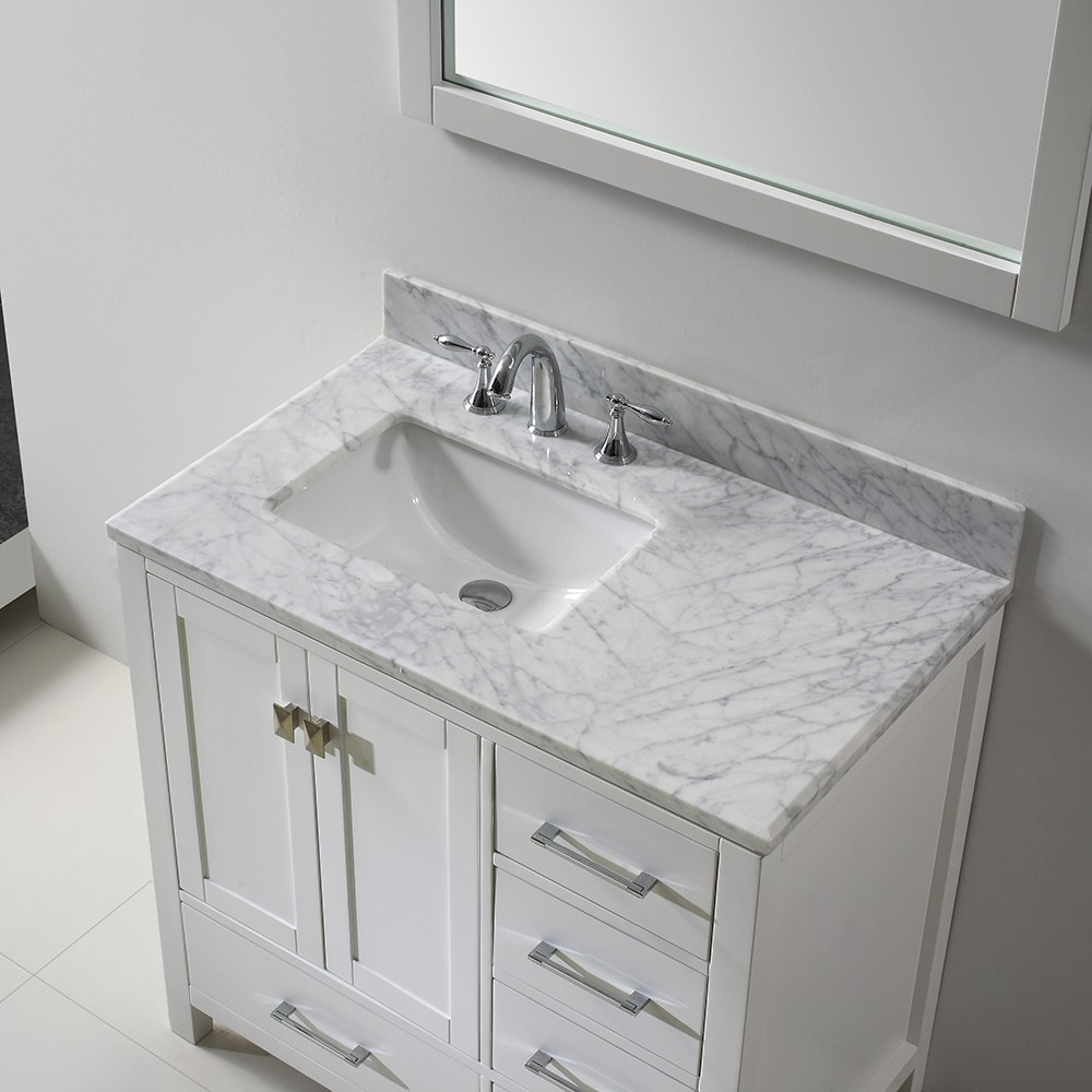 Virtu USA Caroline Avenue 36 Inch Single Bathroom Vanity Set With Faucet  Options (2
