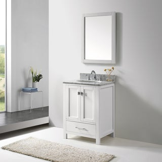 Virtu USA Caroline Avenue 24 Inch Single Bathroom Vanity Set With Faucet