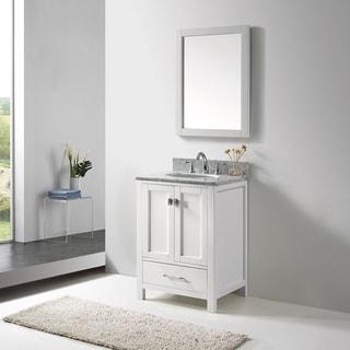 Virtu USA Caroline Avenue 24-inch Single Bathroom Vanity Set with Faucet