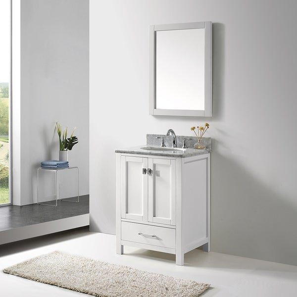 Virtu usa caroline avenue 24 inch single bathroom vanity for Virtu usa caroline 36 inch single sink bathroom vanity set