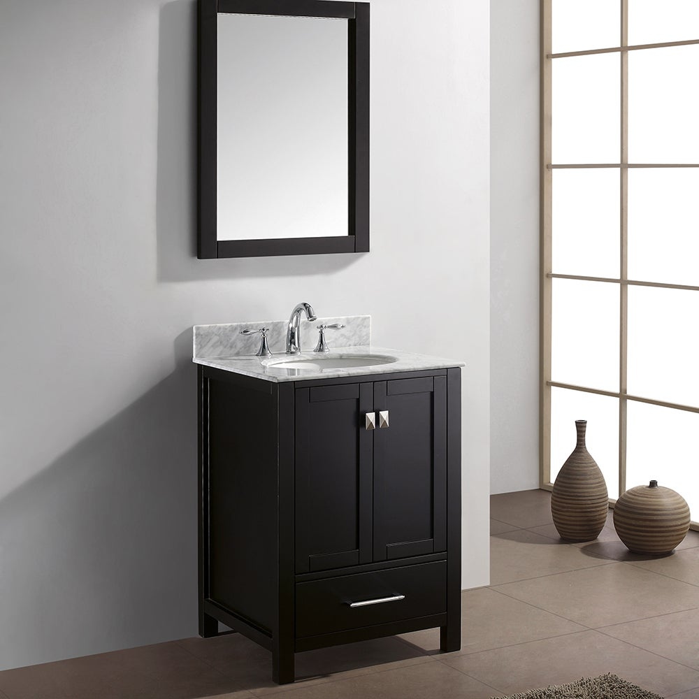 virtu usa caroline avenue 24 inch single bathroom vanity set with faucet ebay. Black Bedroom Furniture Sets. Home Design Ideas