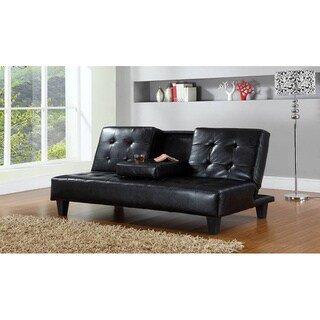 Hodedah Sofa Bed With Cup Holders