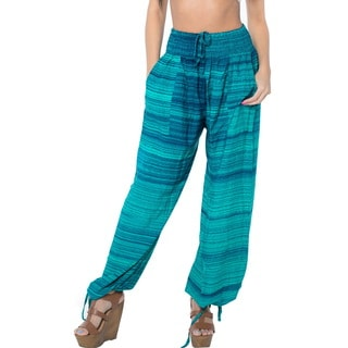 La Leela Soft Rayon Lightweight Women Lounge Nightwear Pajama Pants Sea Green