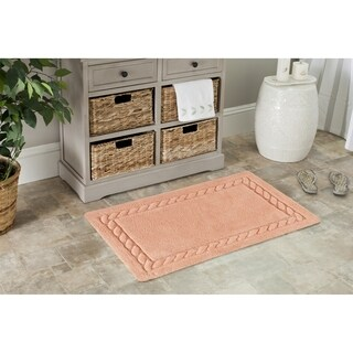 Safavieh Plush Master Cable Plush Peach Bath Rug (Set Of 2)