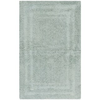 "Safavieh Plush Master Grand Border Sky Blue Bath Rug (1' 9 x 2' 10) - 1'-9"" X 2'-10"""