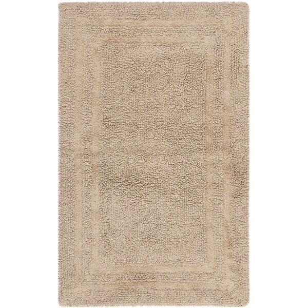 Safavieh Plush Master Grand Border Tawny Bath Rug (1' 9 x 2' 10)
