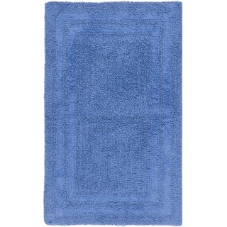 "Safavieh Plush Master Grand Border Azure Blue Bath Rug (1' 9 x 2' 10) - 1'-9"" X 2'-10"""