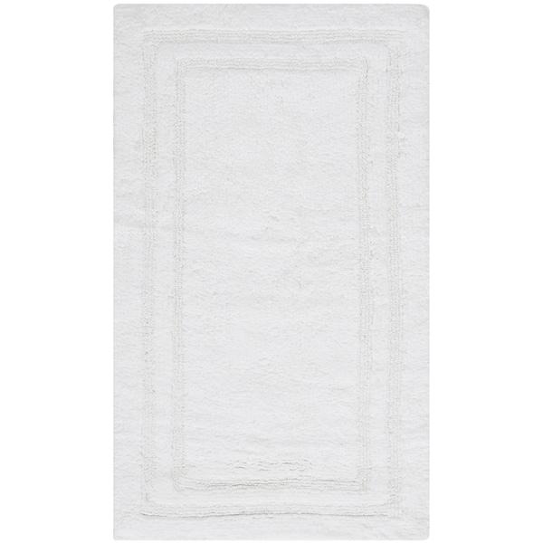Safavieh Plush Master Grand Border Crystal White Bath Rug (1' 9 x 2' 10)