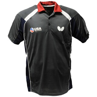 Butterfly Men's USA Table Tennis Team Red/Grey Polyester Shirt (More options available)