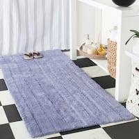 Safavieh Plush Master Spa Stripe Light Purple Bath Rug (2' 6 x 6')