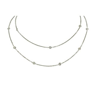 Antwerp's 14k Gold 1/2ct TDW Diamond 'Diamond by the Yard' Necklace (G-H, SI1-SI2)