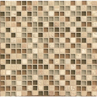 Bedrosians Mosaic Glass/Stone Tiles (Box of 10 Sheets)