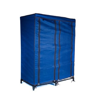 Everyday Home Clothes Closet Blue Portable Wardrobe with Shelves