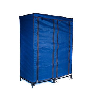 Everyday Home Clothes Closet Blue Portable Wardrobe with Shelves