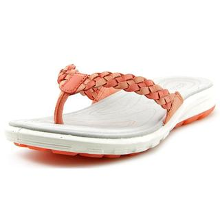 Ecco Women's Palmilla Thong Pink Leather Sandals