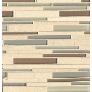 Random Interlock Musette Glass/Stone Tile (Box of 10 Sheets)