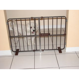 Crown Pet Flexi Fit Brown Metal Pressure Mounted Pet Gate