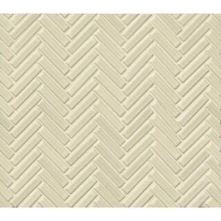 Bedrosians Herringbone Mosaic Grey Haze Porcelain 10 Sheets of Tiles