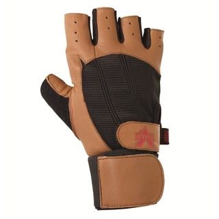 Valeo GLOW-TN Pro Ocelot Tan Goat Leather Wrist Wrap Glove