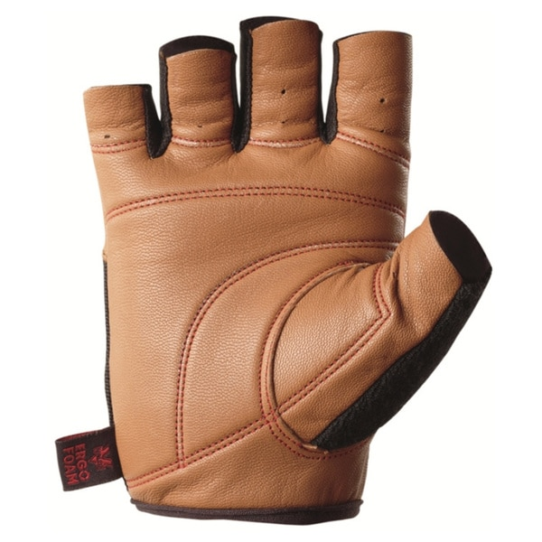 Valeo Pro Ocelot Tan Goat Grain Leather Workout Glove