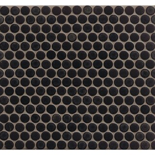 Bedrosians Penny Rounds Mosaic Matte Porcelain Tiles (Set of 10 Sheets) (5 options available)