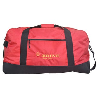 McBrine Red/Black Polyester 28-inch Lightweight Duffel Bag