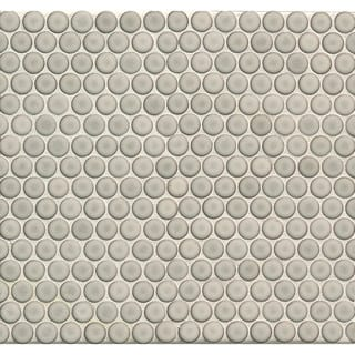 Bedrosians Penny Rounds Mosaic Gloss Dove Multicolor Porcelain Tiles (Pack of 10 Sheets)|https://ak1.ostkcdn.com/images/products/11987467/P18867900.jpg?impolicy=medium