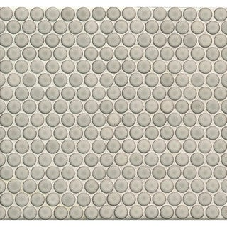 Bedrosians Penny Rounds Mosaic Gloss Dove Multicolor Porcelain Tiles (Pack of 10 Sheets) (4 options available)