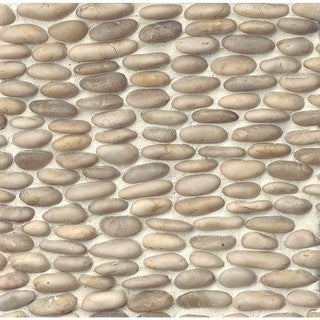 Bedrosians Stacked Pebble 12-inch x 12-inch Stone Tile (box of 6)