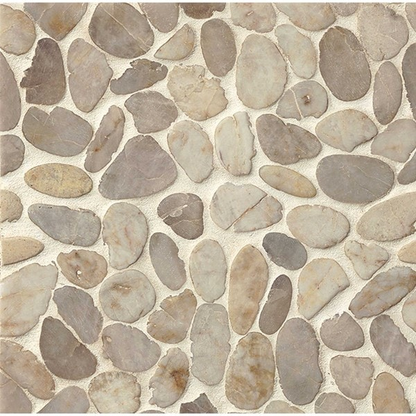 Bedrosians Sliced Pebble 12-inch x 12-inch Stone Tile (Pack of 11)