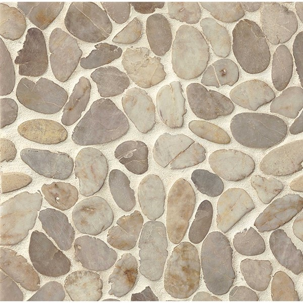 Bedrosians Sliced Pebble 12 Inch X 12 Inch Stone Tile