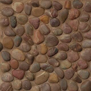 Bedrosians Polished-Pebble Stone Tiles (Pack of 11 Sheets)