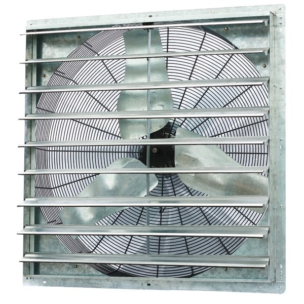 Exhaust Fans Window Exhaust Fans Ceiling Exhaust Fans And Wall Exhaust Fan Mail: Shop ILIVING 36-inch Single Speed Shutter Wall-Mounted