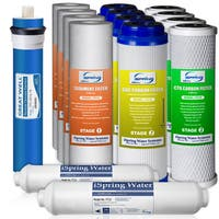 iSpring F15-75 5-stage 75GPD Plastic Reverse Osmosis 2-year Supply Filter Pack (Fits RCC7, RCC7P, or RCW7)