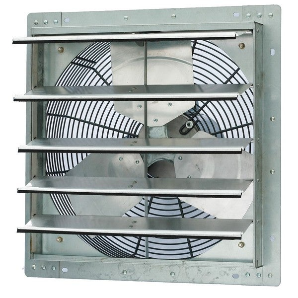 Exhaust Fans Window Exhaust Fans Ceiling Exhaust Fans And Wall Exhaust Fan Mail: Shop ILIVING 18-inch Single Speed Shutter Wall-Mounted