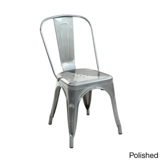 Edgemod Trattoria Bronze Metal Accent Chair (Set of 2)