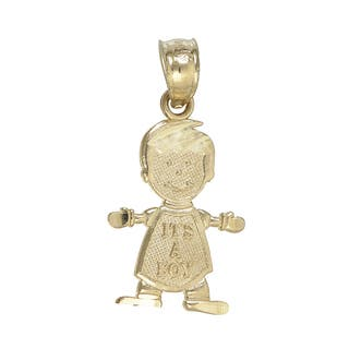 Decadence 'It's a Boy' 14k Yellow Gold Dangling Pendant|https://ak1.ostkcdn.com/images/products/11987500/P18867943.jpg?impolicy=medium