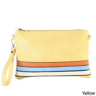 Rimen & Co. Three Tone Strips Conventiable Clutch Wristlet Wallet