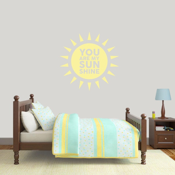You Are My Sunshine' 36 x 36-inch Vinyl Wall Decal