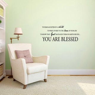 You Are Blessed' 36 x 14-inch Vinyl Wall Decal