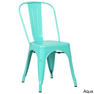 Poly and Bark Trattoria Matte Metal Dining Chair (Option: Aqua)