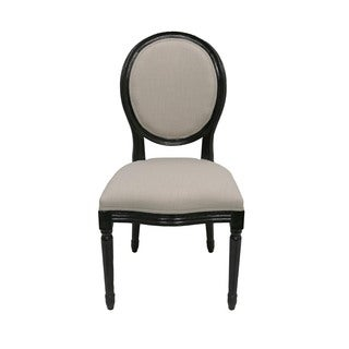 Aurelle Home Black Solid Dining Chair (Set of 2)