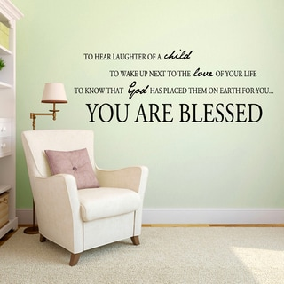 You Are Blessed Vinyl Wall Decal