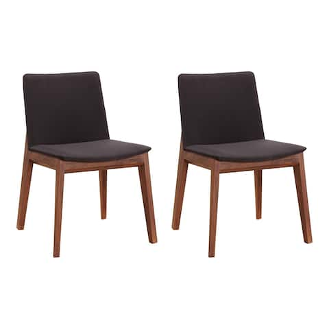Aurelle Home Derek Modern Solid Walnut Dining Chairs - Set of 2