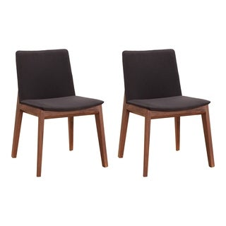 Aurelle Home Solid American Walnut Dining Chairs (Set of 2)