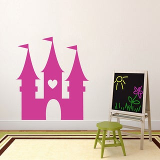 Princess Castle' 43 x 48-inch Vinyl Wall Decal