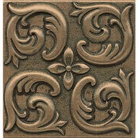 Bedrosians Wave Bronze Metal Resin Single Tile