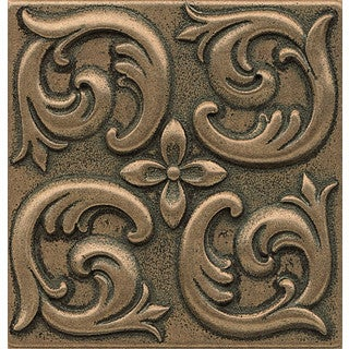 Bedrosians Wave Bronze Metal Resin Single Tile