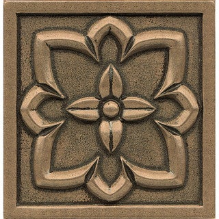 Bronze Metal and Resin 4-inch x 4-inch Romanesque Tile (1-piece) (3 options available)